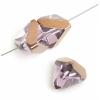 "Glass Cut Pyramid Shape 6X6mm 16"" Strung Light Amethyst Iris"